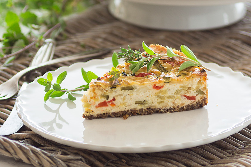New York Cheesecake salado. Receta vegetariana