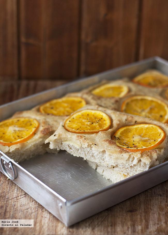 Receta de focaccia de naranja, una forma deliciosa de disfrutar del cítrico de temporada