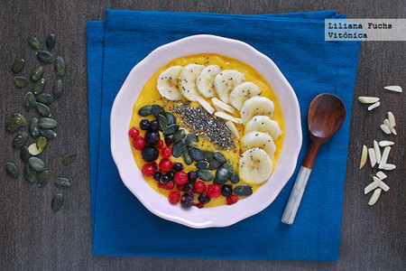 Desayunos Saludables Cole Smoothie Bowl Mango Platano Frutos Rojos