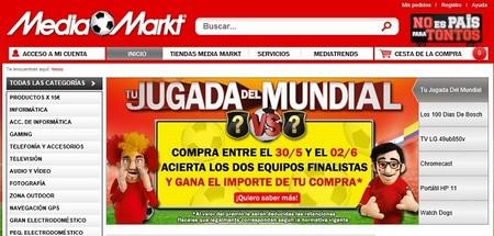 Media Markt devolverá el dinero a quienes acierten los finalistas del Mundial de Brasil