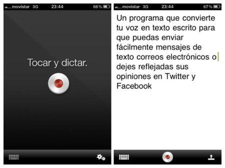 Dragon Dictation para iPhone convierte tu voz en texto para el envío rápido de mensajes