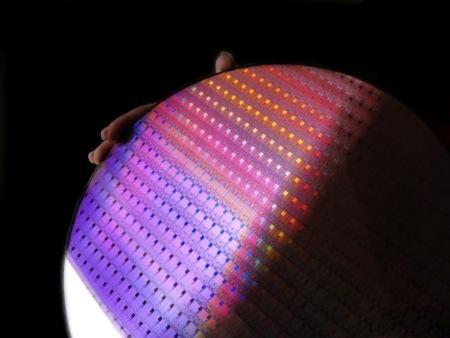 Oblea de Intel Penryn 45 nm
