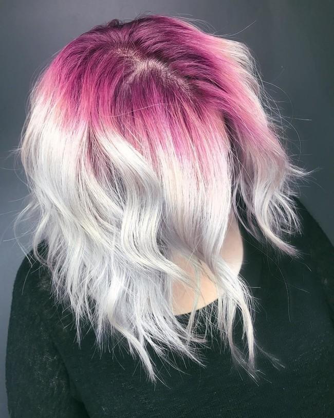 tendencias instagram pelo raices rosas