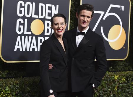 La protagonista de 'The Crown' elige un esmoquin en los Globos de Oro 2018