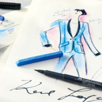 Con la Karlbox de Karl Lagerfeld para Faber-Castell ojalá te inspires a la hora de diseñar porque cara lo es un rato