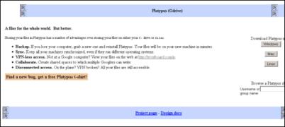 Platypus, el posible Gdrive de Google