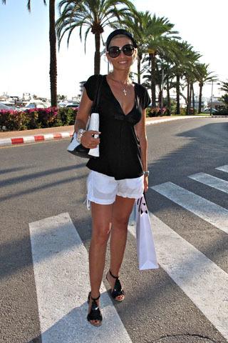 blanco negro playa