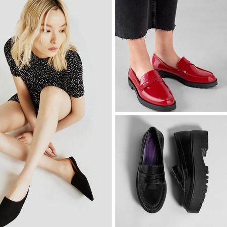 zapatos planos lowcost bershka