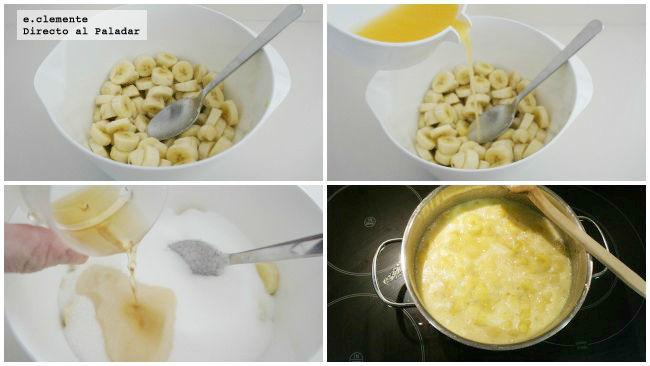 Mermelada de plátano y ron