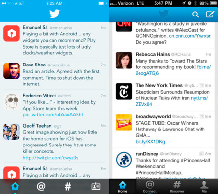 Twitter para iOS 7