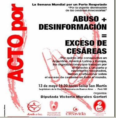 Buenos Aires por el parto respetado