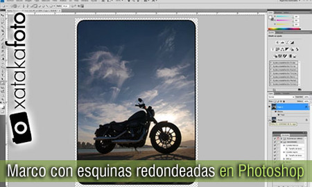 Marco con esquinas redondeadas en Photoshop: Vídeo Screencast