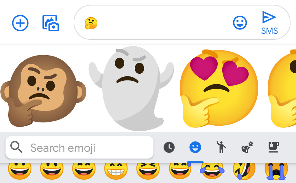 Gboard is testing a few new suggestions that fuses emojis