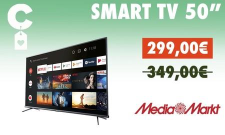 Este Smart TV 4K de 50 pulgadas es el chollo del aniversario de MediaMarkt: Alexa, Android TV y Chromecast por menos de 300 euros