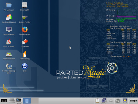 Parted Magic Distro Linux
