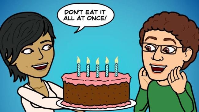 Bitstrips Cake