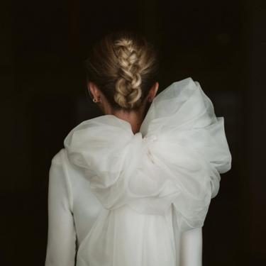 Este es el vestido de novia con maxi lazada firmado por Lorenzo Caprile que más inspiración producirá en los próximos años
