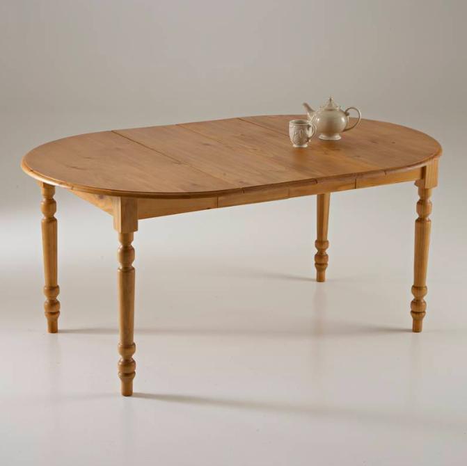 Mesa de comedor redonda, de pino macizo, Authentic Style