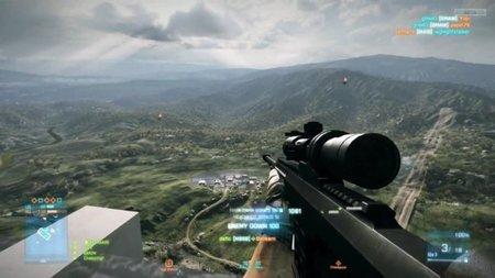 'Battlefield 3'. Acojonante headshot a casi 1 km de distancia