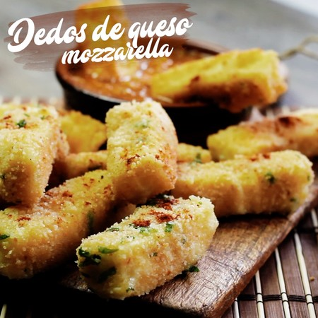 Dedos de queso mozzarella. Receta de botana en video