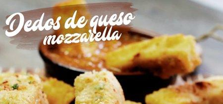 Dedos de queso mozzarella. Receta de botana en video