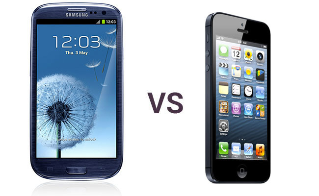 iPhone 5 vs Samsung Galaxy SIII