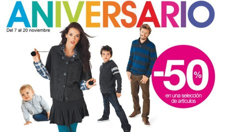 Kiabi celebra su aniversario con prendas al 50% de descuento