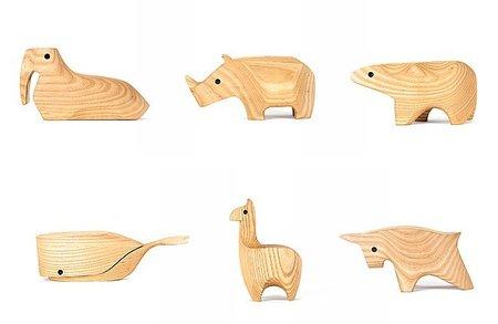 Animal Boxes, cajas de madera con formas de animales