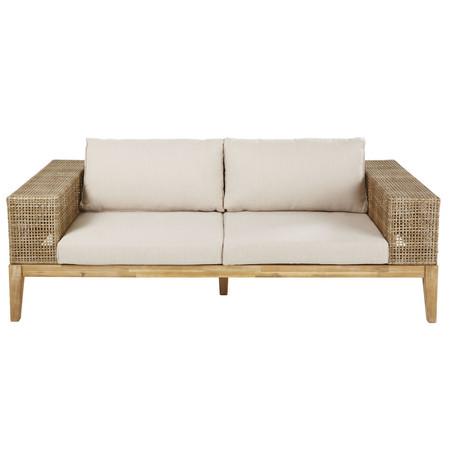 Sofa De Jardin De 3 Plazas De Resina Trenzada Y Tela Marron Claro 1000 6 8 186394 1