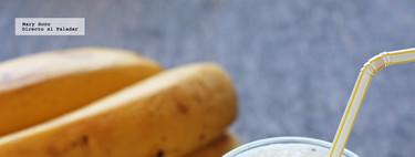 Batido de plátano y durazno. Receta fácil