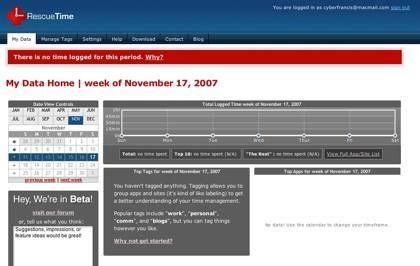 RescueTime, registrando el tiempo de uso sobre cada aplicación y sitio web al cabo del día