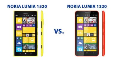 Nokia Lumia 1520 y Nokia Lumia 1320, frente a frente
