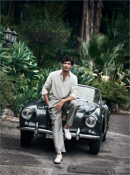 Andrés Velencoso se marcha a Sicilia para protagonizar la campaña primavera-verano 2017 de Salvatore Ferragamo