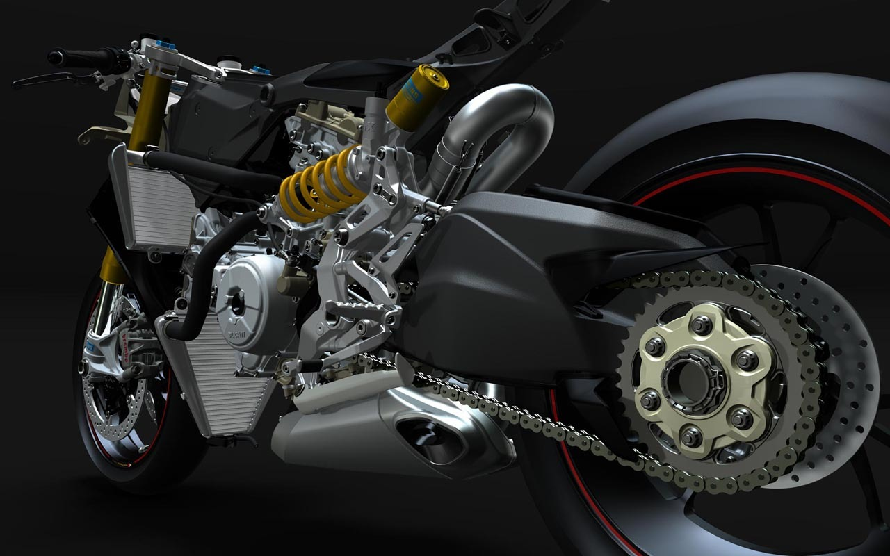 Foto de Ducati 1199 Panigale render al desnudo (1/4)