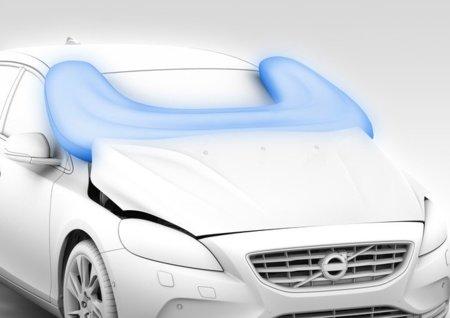 Airbag para peatones de Volvo