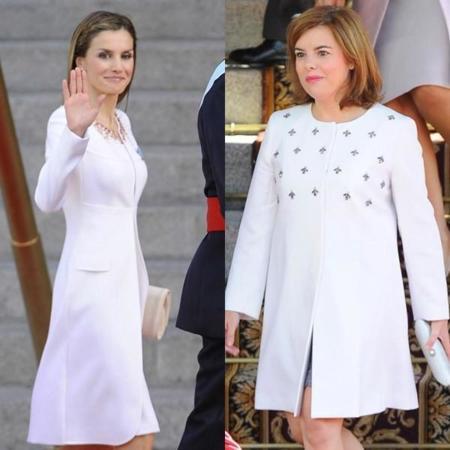 Cinco abrigos cortos blancos de ceremonia para copiar a la Reina Letizia y a Soraya Sáenz de Santamaría