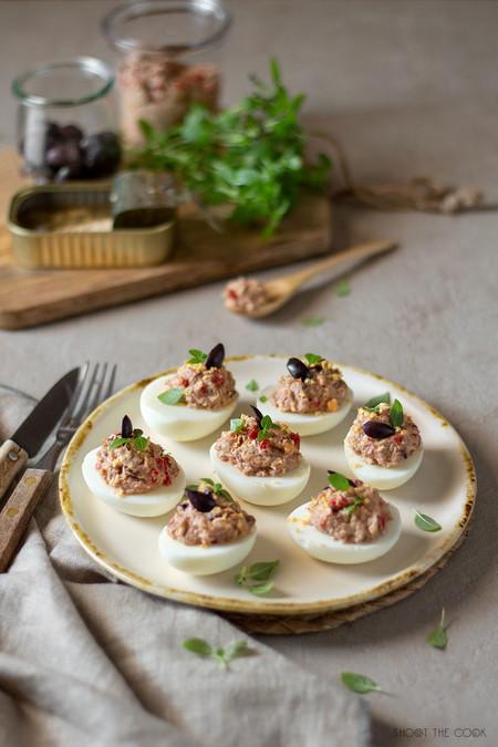 Huevos Rellenos Originales De Caballa Y Pimiento