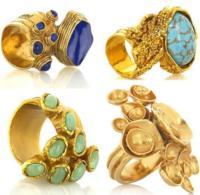 La colección de anillos de Yves Saint Laurent