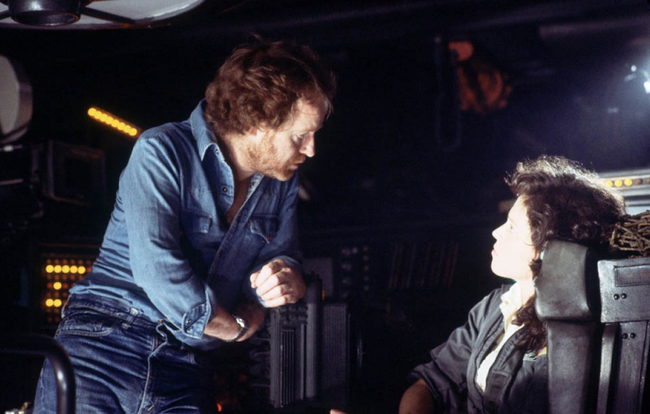 Ridley Scott Alien Set