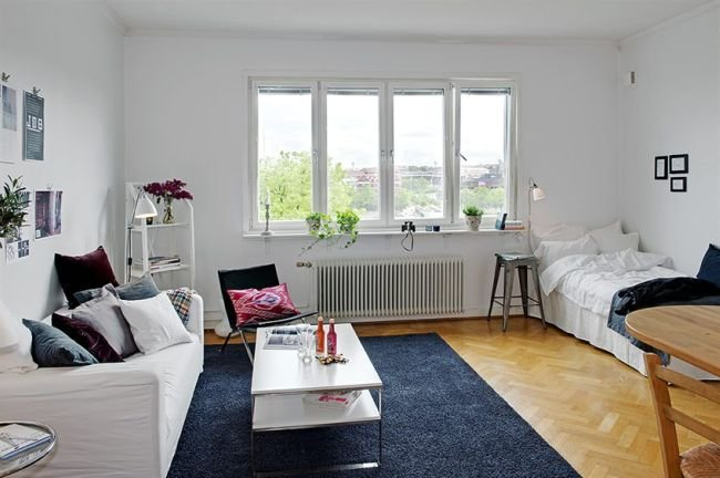 Puertas abiertas un apartamento de 38 metros cuadrados de for Decoracion de casas de 7 metros