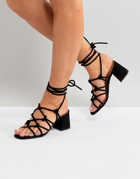 sandalias negro lowcost