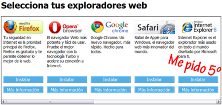 Fallo en la Browser Ballot Screen