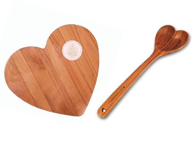 Romanticos regalos de San Valentín con forma de corazón para tu cocina
