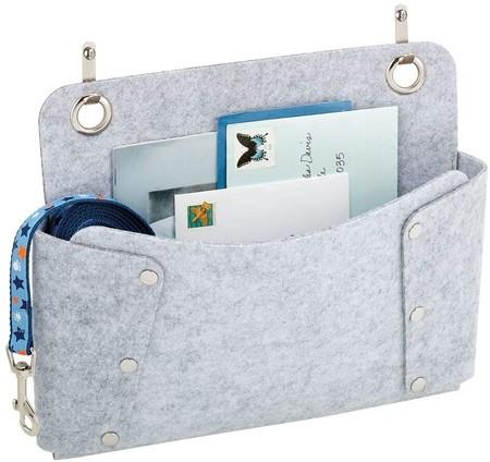 Mdesign Juego De 2 Bolsillos Colgantes De Fieltro Bolsa Para Sofa Para Guardar Libros Periodicos Mandos A Distancia Tablets O