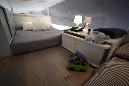vivir en un remolque - dormitorio