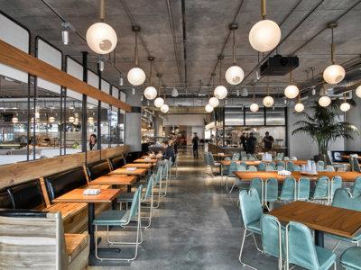 Nueva cafetería en las oficinas de Dropbox, para sentirse como en una nube...