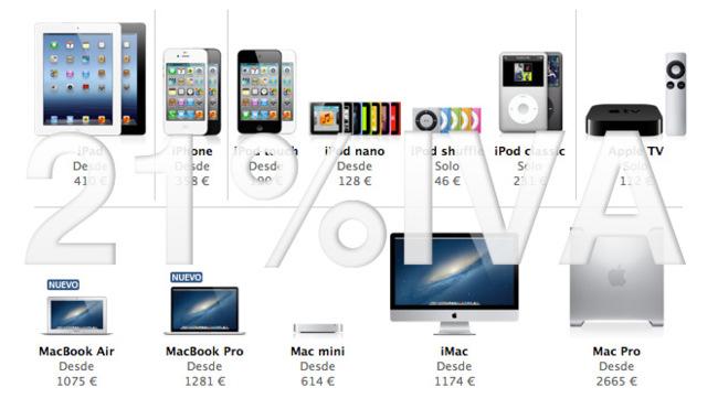Apple ya aplica el 21% marcado por la ley en sus tiendas con la excepción de la App Store