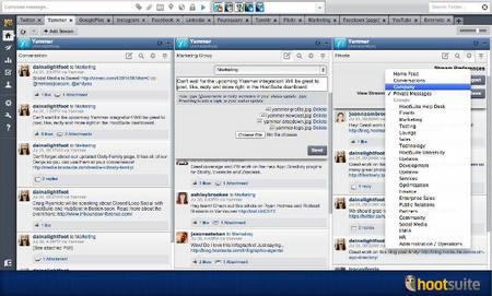 Hootsuite ahora añade soporte para Yammer