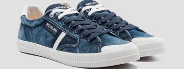 Los sneakers de verano de REPLAY se llevan en clave retro y (por supuesto) en denim