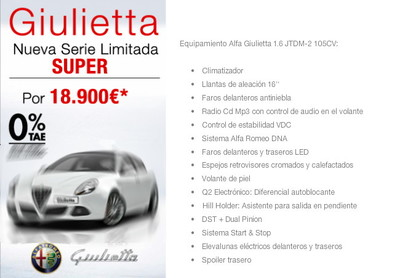 Alfa Romeo Giulietta serie limitada SUPER